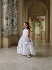 Joan Calabrese for Mon Cheri -Flower Girl *Sleeveless lace, memory taffeta and tulle *