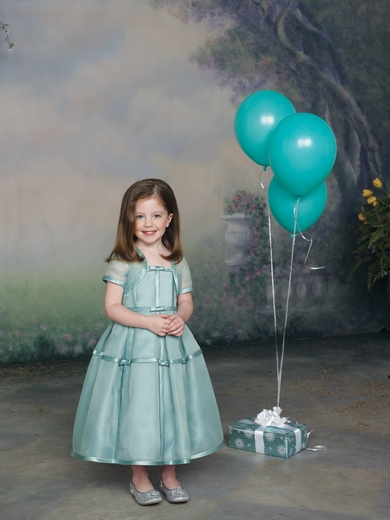 Joan Calabrese for Mon Cheri *Two-piece satin and organza dress set*
