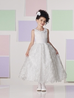 Joan Calabrese *Rosette Overlay Communion Dress*