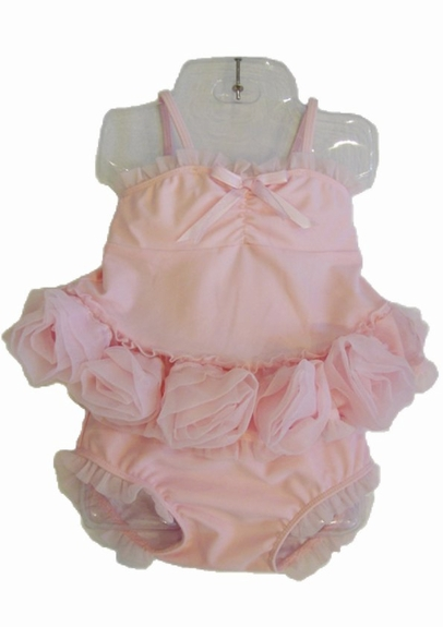 "Kate Mack ""barefoot ballerina""pink rose 2pc swimsuit Size 3m - 4T"