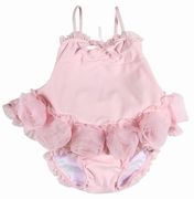 "Kate Mack ""barefoot ballerina""pink rose 2pc swimsuit Size 3M"
