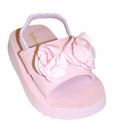 "Kate Mack ""Blooming Roses"" & ""Jenny Annie Dots"" Pink Toddler Sandals"