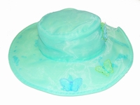 Kate Mack Butterfly Ballet Blue Hat 3-12m
