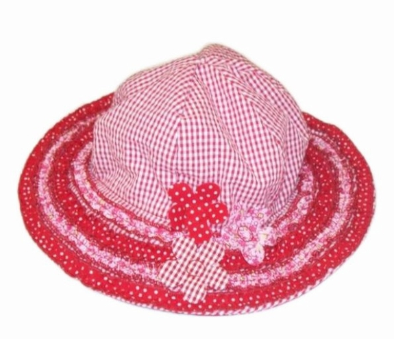 "Kate Mack ""Cherry Picnic"" and ""Patchwork Picnic"" Red Sun Hat"