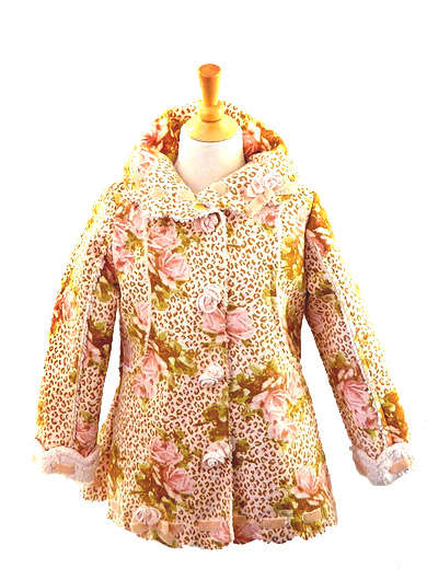 Kate Mack Coat *Leopard and Roses* Only a size 4 left!