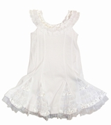 "Kate Mack ""Dipped in Ruffles"" White Beach Portrait Dress"