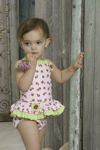 Kate Mack 'Dottie Rose' Tankini-Sizes 3m-18m