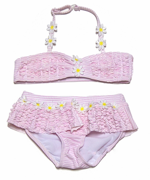 Kate Mack Girls *Daisy May* Skirted two Piece Swimsuit - 4t-6x