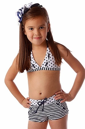 """Kate Mack """"Good Ship Lollipop"""" Navy and White Size 14 &16"""