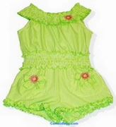 Kate Mack Green Romper Size 5, 6