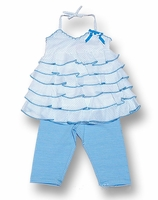 Kate Mack 'Isle of Capri' Tunic and Legging Set 12m, 3t-Left Only!