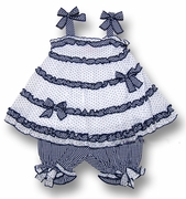 Kate Mack *Picnic Sail* Ruffled Top and Bloomer Set 3m-6m-18m