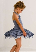 Kate Mack - * Picnic Sail* Ruffles Twirly Halter Sun Dress