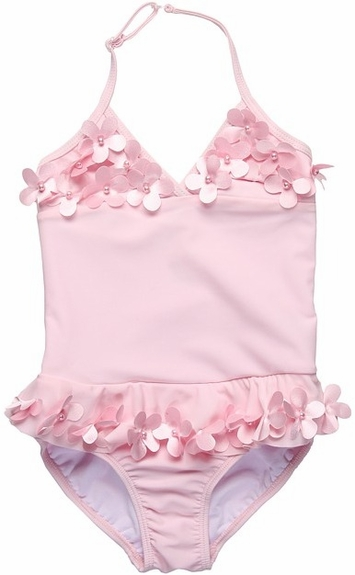 Kate Mack *Pink Poolside Petals* One-Piece Size 5