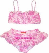 Kate Mack *Pink Provence* Skirted Toddlers' Bikini -Size -4&5