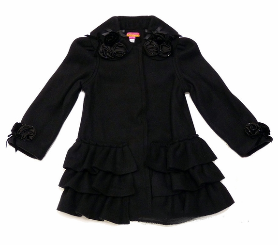 Kate Mack *Polar Fleece Ruffled-Bottom Coat-size 3t