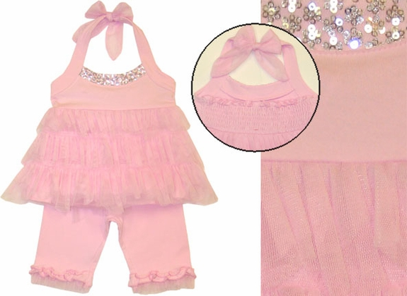 Kate Mack , *Poolside Princess* Tunic and Capri Legging Set -9m to 4t