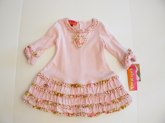 kate Mack - Ruffel Dress -  Size 12m - 2T