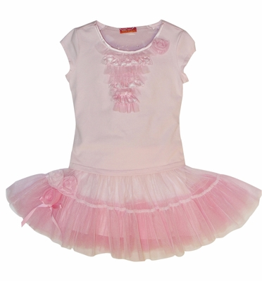 Kate Mack 'TuTu Cute' Pink Tee and Skirt -4t-6x