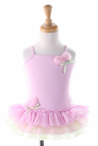 Kate Mack *TuTu Cute* Swimsuit (pink & green)Size 6m-24m