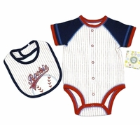 Little Me -White Multi 1PC+Bib -Size NB - 9m