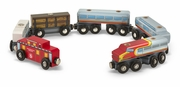 Melissa & Doug - Wooden Train Cars Set