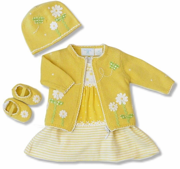 SALE!  4PC -Dress, Sweater,Booites,Hat Set- Size 3m,6m