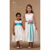 ee47f004811 Us Angels Flower Girl  Satin Tank-Style 702 (A Custom Event)