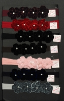 Velvet Red Matching Head Band with Pearl