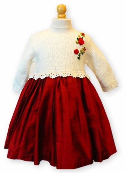 Victoria Kid's- Hand Made- Christmas Dress, Size 3- 12m