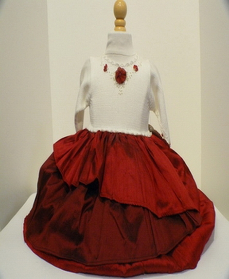 Victoria Kid's - Hand Made Holiday Dress, Size NB-18M