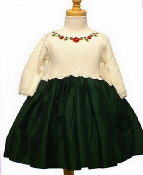 Victoria Kids Hand Made Silk/Knit- Holiday Dress, Sold out !