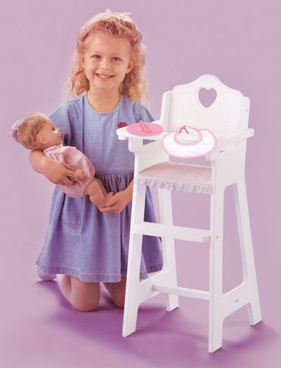 White Doll High Chair-