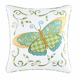 Alese Garden Butterfly Applique Pillow