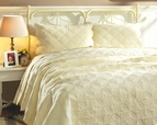 Amelia Matelasse Light Yellow Quilt Set