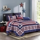 American Star Red White Blue Flag Quilt Set