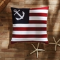 Ahoy American Flag Anchor Pillow