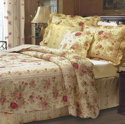 Antique Rose Quilt Set