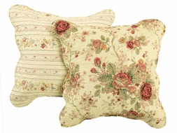 Antique Rose Vintage Pillow Set (two)