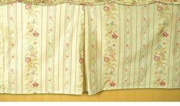 Antique Rose Vintage Stripe Bedskirt