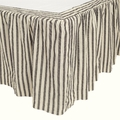 Ashmont Gray & Cream Ticking Stripe Bedskirt