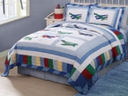 Aviator Fly Away Airplane Quilt Set