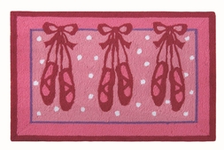 Ballet Slippers Plush Rug