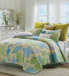 Beach Dreams Shells Quilt Set