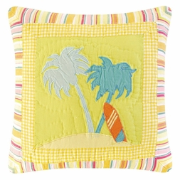 Beach Life Palm Tree Pillow