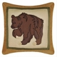 Big Sky Brown Bear Pillow