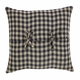 Black and Cream Check Accent Pillow
