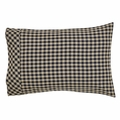 Black and Cream Check Pillowcase (two)