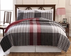 Black & Red Plaid Varsity Quilt Set