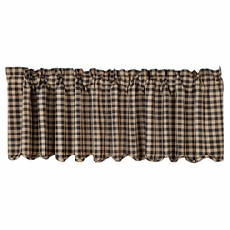 Black and Tan Checks Valance